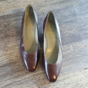 Vintage Christian Dior brown leather shoes size 38